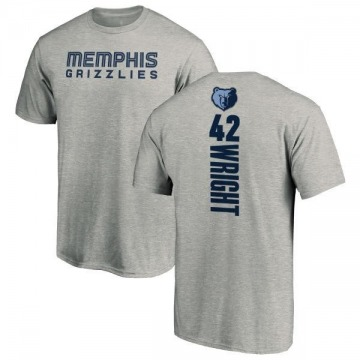 Men's Lorenzen Wright Memphis Grizzlies Ash Backer T-Shirt